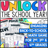Unlock the School Year - Editable Back to School Game