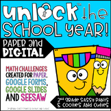 Unlock the School Year   Back to School   Math Games   Editable   DIGITAL