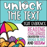 Unlock the Text Evidence | Reading Games | Nonfiction Games