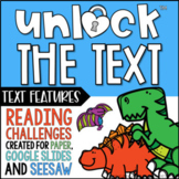 Unlock the Text Features | Reading Games | Nonfiction Game