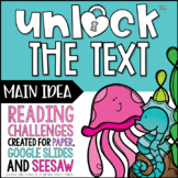 Unlock the Text Main Idea | Reading Games | Nonfiction Gam