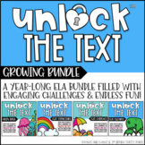 Unlock the Text | Reading Games | GROWING BUNDLE