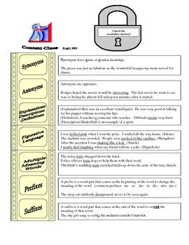 Unlock the Vocabulary Mystery!