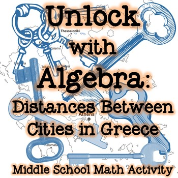 Unlock with Algebra: Distances Between Cities in Greece