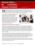 Unlocking Academic Vocabulary with Grammar Gallery