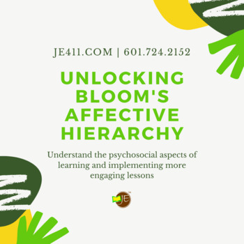 Unlocking Bloom's Affective Hierarchy (Infographic)