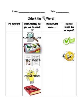 Unlocking Keywords Recording Sheet