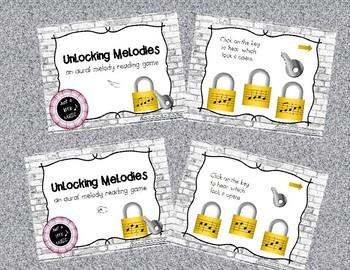 Unlocking Melodies -  Aural melody practice 4 game BUNDLE
