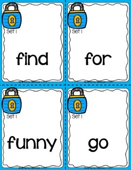 Unlocking Sight Words:  Pre Primer-3rd Grade Word Lists and Flash Cards