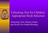 Unlocking Text for Guiding Reading: A Literacy Coaching Tool