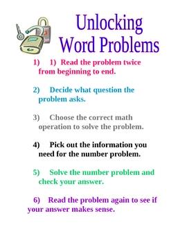 Unlocking Word Problems