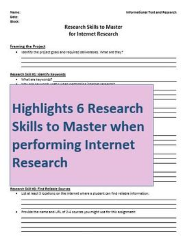 Unlocking the Research Process-An Introduction to Student Research Projects