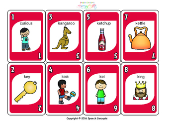 UNO - Articulation Game for K Initial