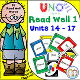 Uno-like Fluency Game - Read Well Units 14 - 17 {76 Pattern and Tricky Words}
