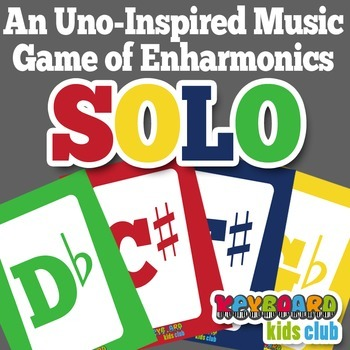 Uno-Inspired Music Game Enharmonics Sharps Flats