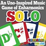 Uno-Inspired Music Game Enharmonics Sharps Flats