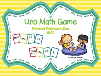 Uno-Style Math Game: Numbers 10-20