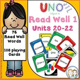 Literacy Center Fluency Game (Uno) - 76 Words from Read Well Units 20-22