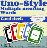 Uno-style cards: Multiple Meaning Words, Homonyms