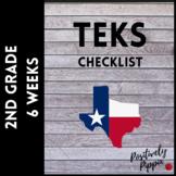 2nd Grade TEKS Checklist (6 Weeks Checks) 2018-2019