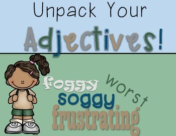 Adjectives Lesson Plans: A Week of Fun with Adjectives - Camping Theme