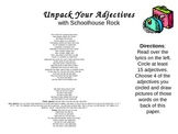 Unpack Your Adjectives activity