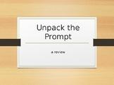 Unpack the Prompt: Writing Controlling Statements (FSA Wri