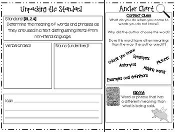 Unpacking 3rd Grade Reading RL standards