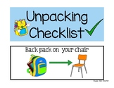 Unpacking Checklist