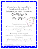 Unpacking Common Core: Reading & Informational Text Standard 1