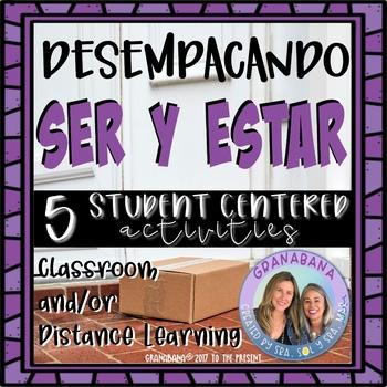 No Prep Ser Y Estar Unpacking Conjugations 5 Student Centered