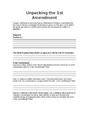 Unpacking Document: 1st Amendment