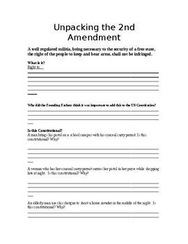 Unpacking Document: 2nd Amendment