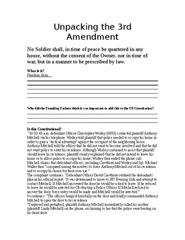 Unpacking Document: 3rd Amendment