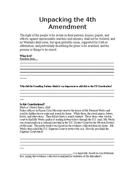 Unpacking Documents: 4th Amendment