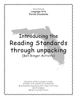 Unpacking LAFS Standards Bell Ringer Activity