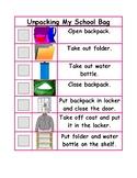 Unpacking My Schoolbag Checklist