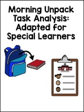 Unpacking Task Analysis: Adapted for Special Learners (with picture symbols)