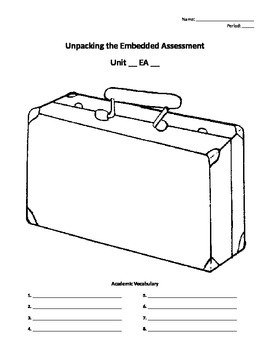 Unpacking the Embedded Assessment