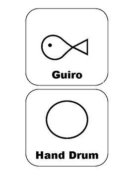 Unpitched Percussion Symbol Cards
