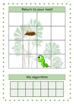 Unplugged Algorithm Activities Dinosaur Topic (STEM)