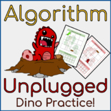 Unplugged Algorithm Activities Dinosaur Topic (STEM)