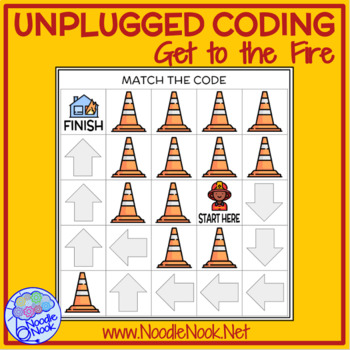 Unplugged Coding. Get to Fire- Adapted & Leveled Tech for SpEd and Autism Units