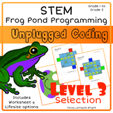 Unplugged Coding - Frog Pond Programing STEM Level 3: Selection