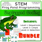 Unplugged Coding: Frog Pond Programming STEM Bundle