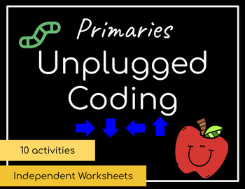 Unplugged Coding Independent Worksheets | Distance Learning