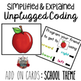 Unplugged Coding: School Theme Add On Pack