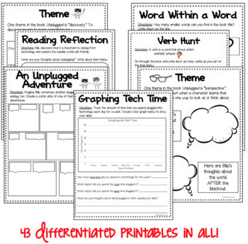 BOOK STUDY - Unplugged by Steve Antony - 43 Differentiated Activities/Printables