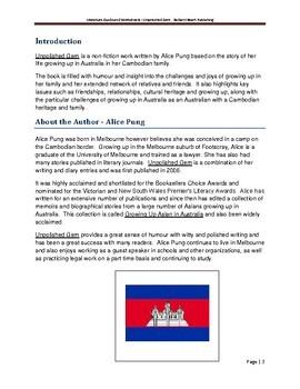 Unpolished Gem-Alice Pung Teacher Text Guides & Worksheets