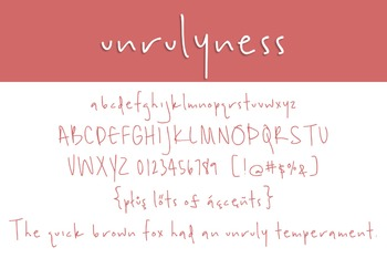 Unrulyness Font for Commercial Use